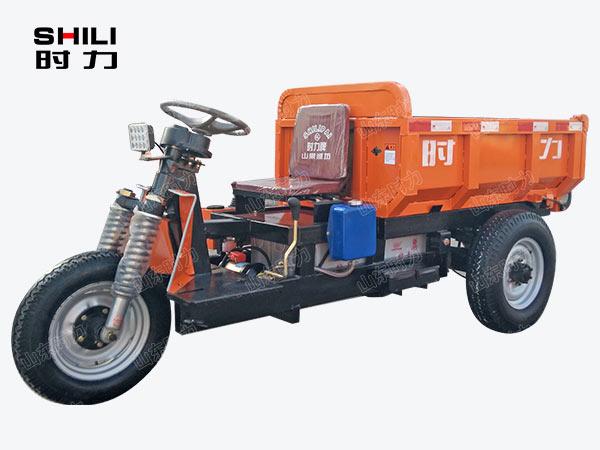 1吨矿用电动三轮车前侧面图