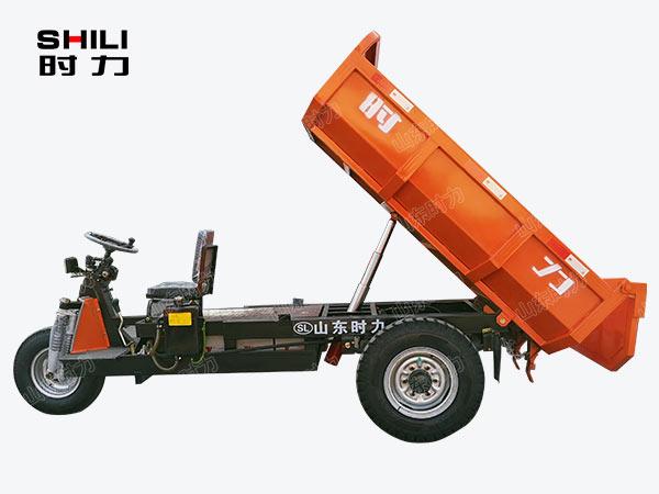 2吨矿用电动三轮车侧面