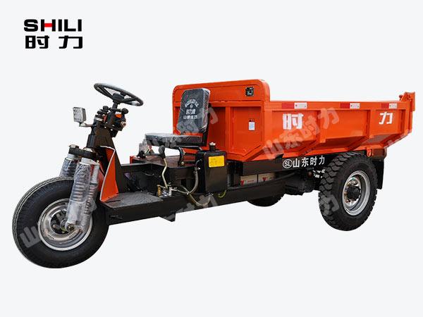 3吨矿用电动三轮车前侧面图