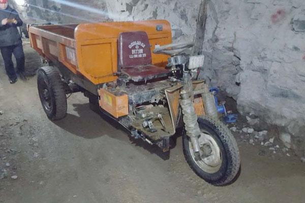 秦皇岛1吨矿用电动三轮车使用案例